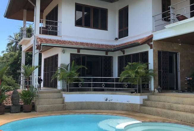 Four bedroom wooden and stone pool villa in Bophut for sale